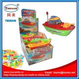 Goed die het Kolossale Stuk speelgoed van de Boot van de Verlichting van het Stuk speelgoed van het Schip met Suikergoed verkopen