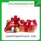 Упаковывая коробка подарка бумаги тесемки коробки шикарная изготовленный на заказ