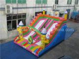 二重車線の膨脹可能な子供のスライド、販売のための警備員のスライド