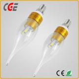 Lampadina della candela munita 5W del LED con le certificazioni 3000k di RoHS del Ce