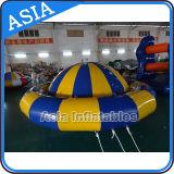 Barco inflable flotante inflable del disco del agua del hilandero