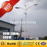 300W 바람 터빈 태양 잡종 가로등 바람 몬 발전기 바람 선반