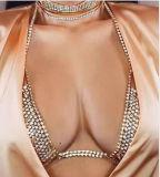 Juwelen van het Lichaam van de Bustehouder van de Ketting van het Metaal van het Kristal van het Bergkristal van de manier de Volledige