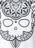남자의 여름 백색 형식에 의하여 인쇄되는 면 t-셔츠