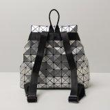 Серебряный ромбический геометрический Backpack Hasp Drawstring (A027)