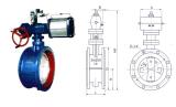 Válvula de borboleta macia pneumática D641X-16c da selagem da flange (DN50~DN200)
