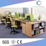 新しい十字の白いオフィス表のスタッフの机の家具ワークステーション