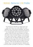 Alto proyector ULTRAVIOLETA de la IGUALDAD de la luz LED de la IGUALDAD de Panta 18*15W 5in1 Rgbaw Alumnium LED del brillo de Rasha con Powercon para la hospitalidad del acontecimiento de la etapa