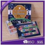 Steifes Papiergeschenk-verpackenkasten mit Karten und Register