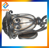 Luz de bronze energy-saving do jardim da máscara de lâmpada da montagem da parede da cor