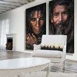 Выдвиженческая деревянная холстина Frameless на стене для дома