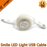 Custom Logo Retractalbe Câble de transfert USB avec éclairage LED