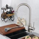 Retirer le robinet mélangeur d'évier de cuisine pivotant en nickel brossé Faucet Nickel