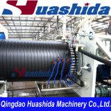 Ligne en plastique d'extrusion de pipe de drain de mur de double d'extrudeuse de pipe d'enroulement de HDPE