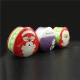 Rectángulo del estaño de la Navidad para el envase del regalo del alimento del embalaje (T001-V8)