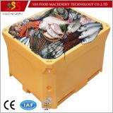 Rectángulo de almacenaje fresco realzado del vario de las aplicaciones del encadenamiento frío del rectángulo de los pescados del hielo del refrigerador del rectángulo del alimento rectángulo del transporte