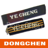 Escritura de la etiqueta tejida para el zapato de los pantalones vaqueros de la alineada (DC-WOV007)