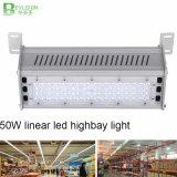 luz linear ajustable de la iluminación del ángulo de haz 50W LED Highbay