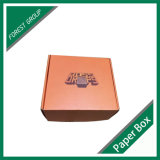 Empaquetado anaranjado de la caja de cartón de la impresión en color