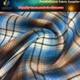 우연한 셔츠를 위한 폴리에스테에 의하여 회전되는 털실에 의하여 염색되는 검사 직물, 폴리에스테 Shirting 직물