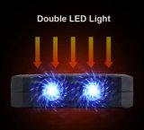 côté de l'énergie 10000mAh solaire avec la fonction d'allumeur de cigarette et l'éclairage LED duel
