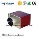 Laser de couro Sg8230 da gravura do Galvo para a mini máquina de gravura do laser