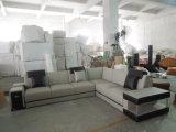 Sofà della mobilia del salone con il sofà domestico di cuoio sezionale moderno dell'angolo della mobilia