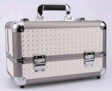 Doppelt-geöffnete Aluminiumlegierung-leistungsfähige große Kapazitäts-kosmetische Fälle
