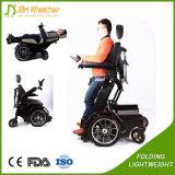 Cadeira de rodas ereta elétrica da potência de Ouudoor com luz do diodo emissor de luz