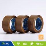 48 MicブラウンカラーBOPP包装の使用のための付着力のカートンのシーリングテープ