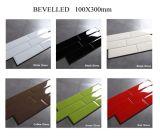 100X300mm 베이지색 편평한 매트 세라믹 유약 실내 호텔 벽 도와