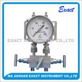 고품질 유압 측정하 미분 압력 측정하 두 배 부르동 압력 계기