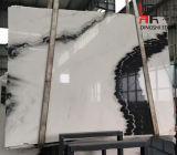 建築材料のための自然な石造りの中国のパンダの白い大理石の平板