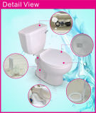 Toilette en deux pièces vert clair vidante simple vidante duelle en céramique de réservoir