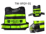 Veste da segurança da polícia de trânsito com malotes