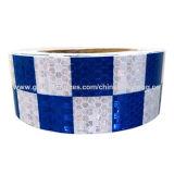 Blauer und weißer Honig-Kamm-Entwurfs-kleiner Check der reflektierenden Sicherheits-Bänder
