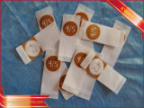 Ropa de seda Ropa de seda Etiqueta de tallas tejidas