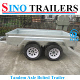Flat Steel Sides Tandem Box Trailer for Australian Condition