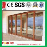 Puerta deslizante de madera de la aleación de aluminio del color