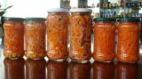 販売あらゆるタイプ蜂蜜、込み合い、スパイス、Sanceのピクルスのガラス缶詰になる瓶(JL00088)