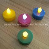 クリスマスの装飾的なFlameless柱LED電池式の多色刷りの模造Tealights