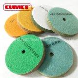 4 진한 녹색 인치 갯솜 닦는 패드 1000 모래 Type3