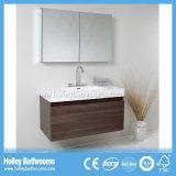 Qualitäts-an der Wand befestigte Badezimmer-Eitelkeit mit Spiegel-Schrank-und Pferden-Metallfach (BF354D)