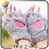 Перчатки шаржа медведя плюша Semi-Перста повелительниц теплые