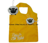 Bolso de compras plegable respetuoso del medio ambiente reutilizable, bolso práctico y ligero del estilo animal del pájaro de totalizador