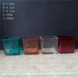 10oz kubeerde de Gevormde Kruiken van de Kaars van het Glas met het Bespuiten Kleur
