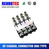PCB 마운트를 위한 다중 포트 BNC 암 커넥터