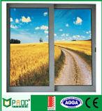 Perfil de aluminio revestido Windows de desplazamiento del polvo con el vidrio doble