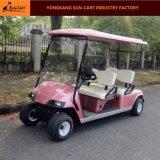 Carrello di golf elettrico a quattro passeggeri per il terreno da golf e l'hotel