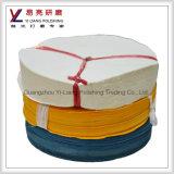 Prix d'usine Tissu abrasif à roue volante jaune à coton de haute qualité
